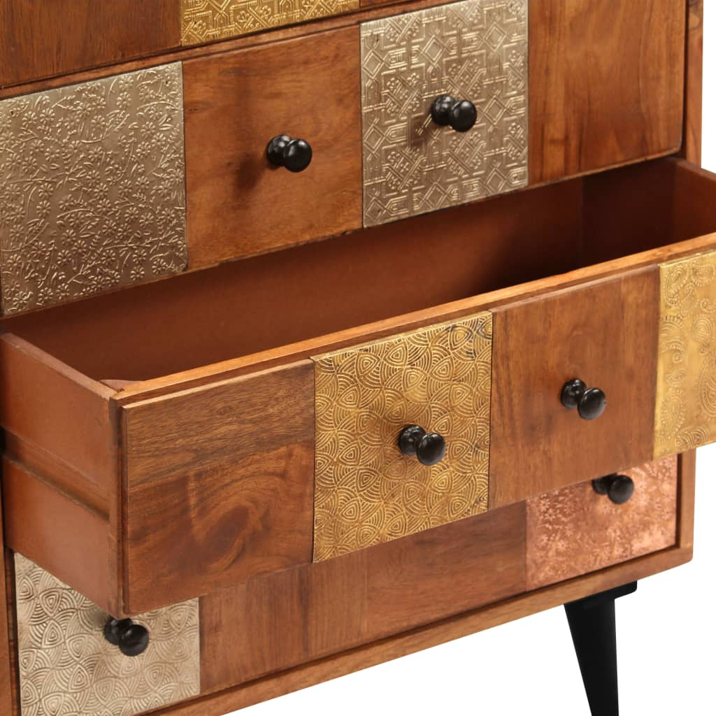 Chest of Drawers 60x30x75 cm Solid Acacia Wood 5