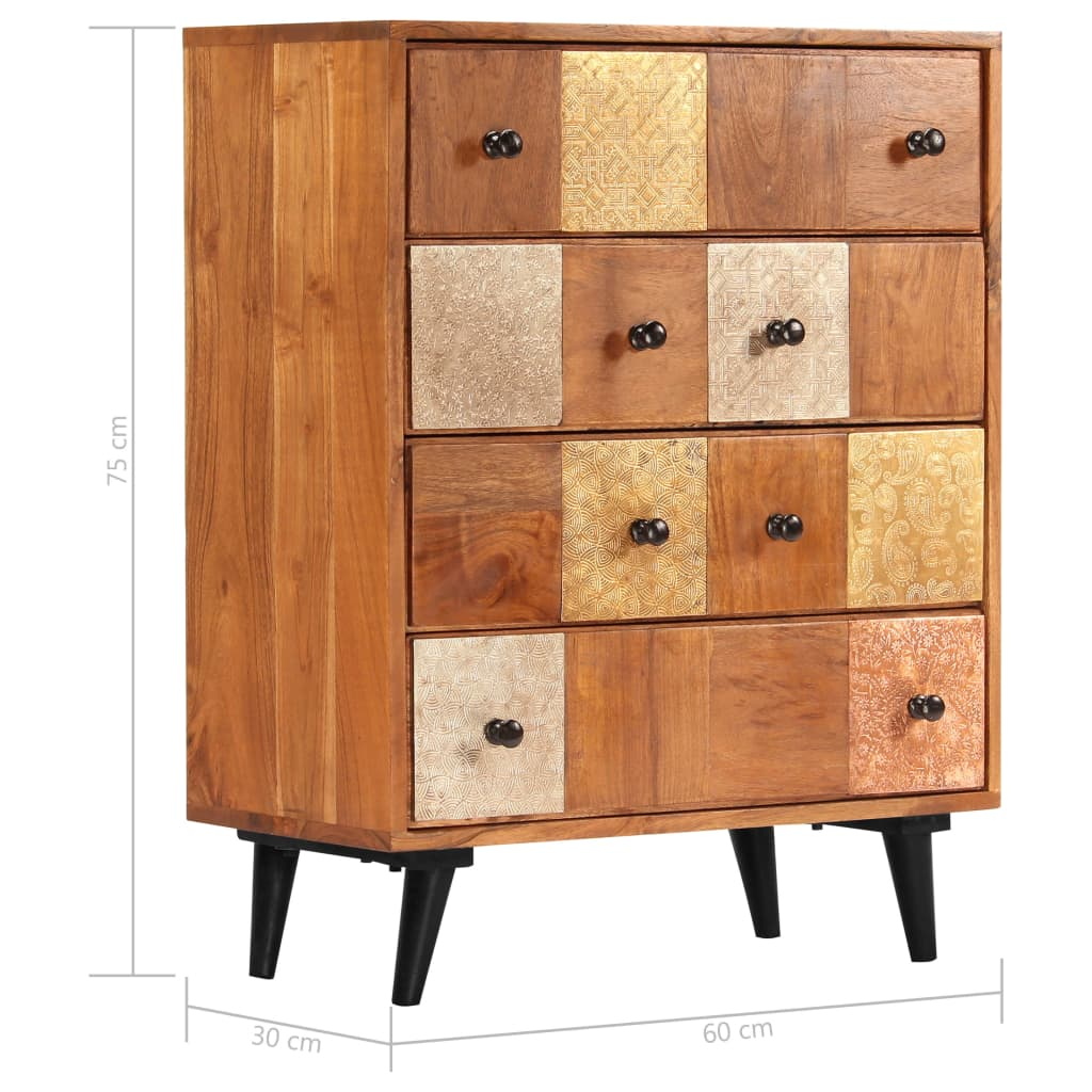 Chest of Drawers 60x30x75 cm Solid Acacia Wood 8
