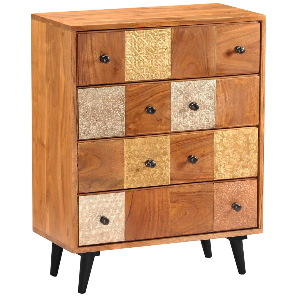 Chest of Drawers 60x30x75 cm Solid Acacia Wood 10
