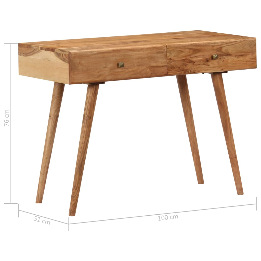 Desk 100x51x76 cm Solid Acacia Wood 8