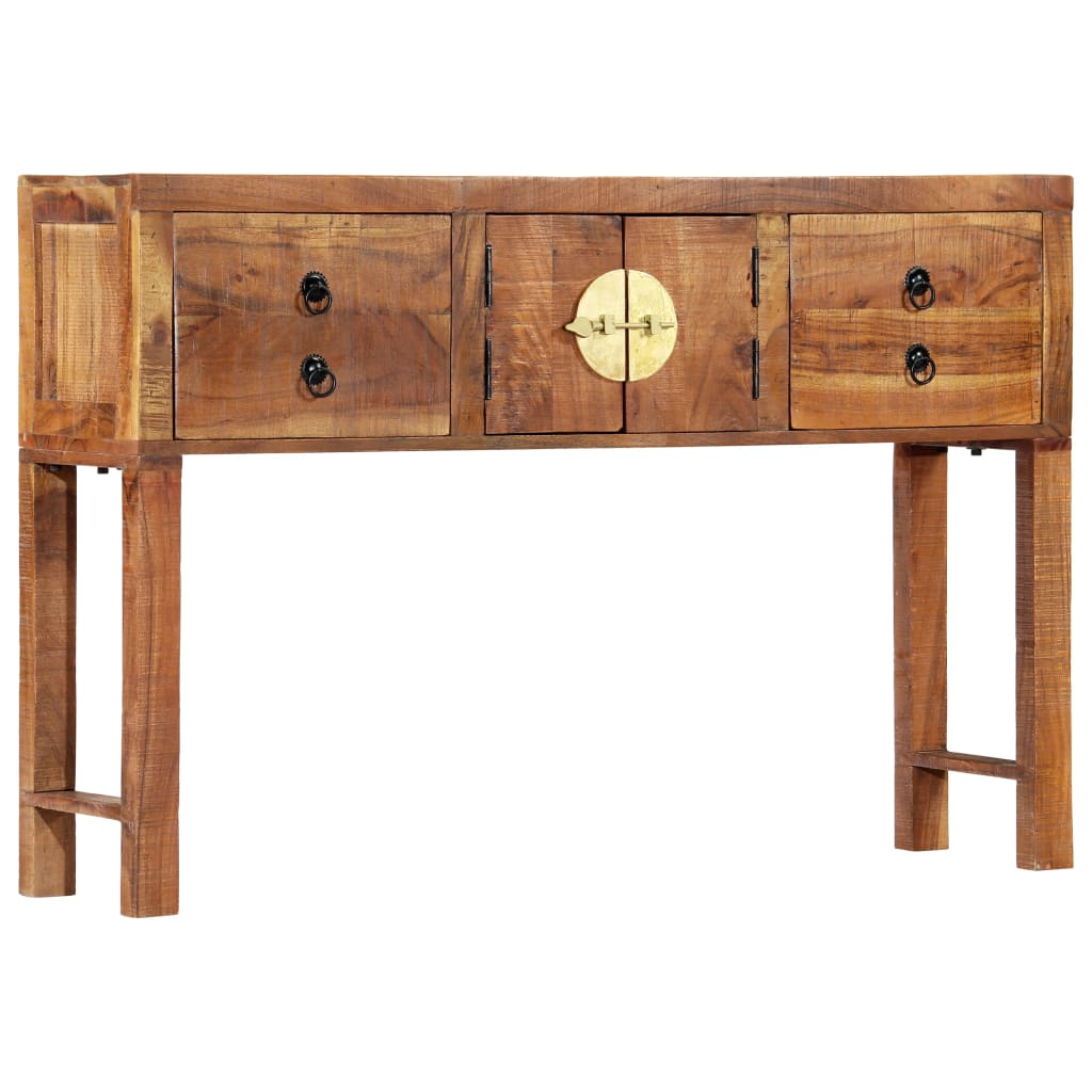 Console Table 120x30x80 cm Solid Acacia Wood