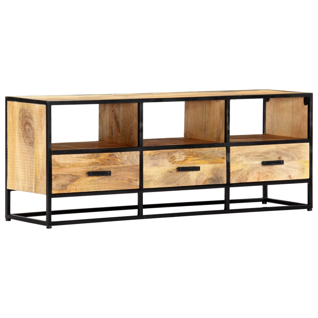 TV Cabinet 120x30x45 cm Solid Mango Wood 11