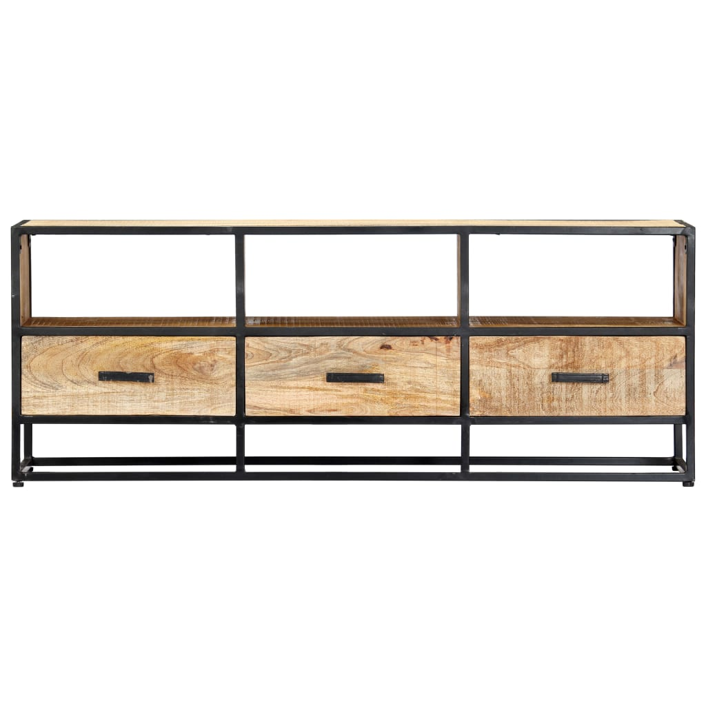 TV Cabinet 120x30x45 cm Solid Mango Wood 3