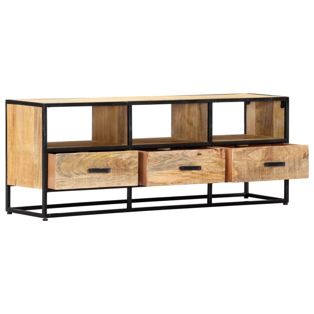 TV Cabinet 120x30x45 cm Solid Mango Wood 4
