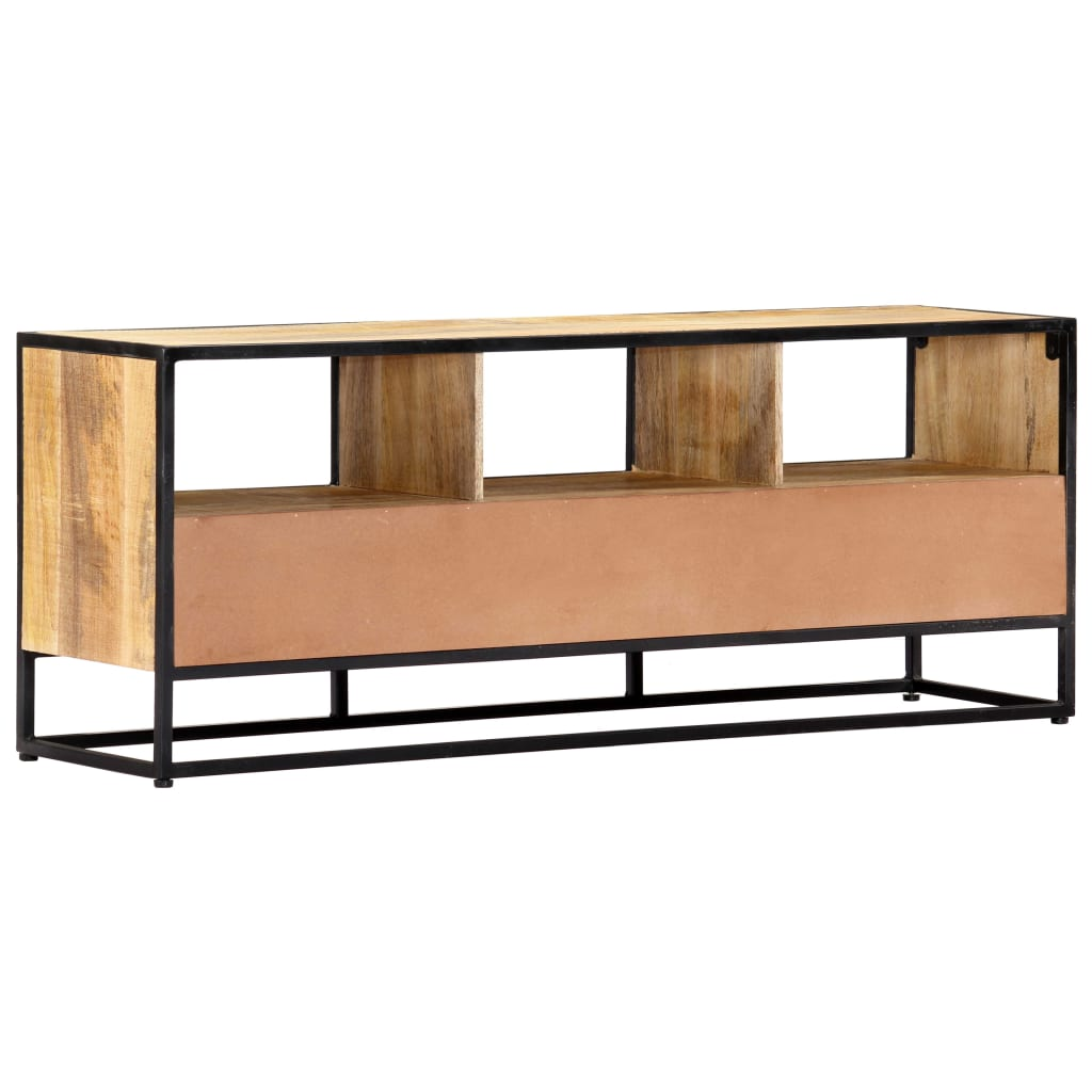 TV Cabinet 120x30x45 cm Solid Mango Wood 5