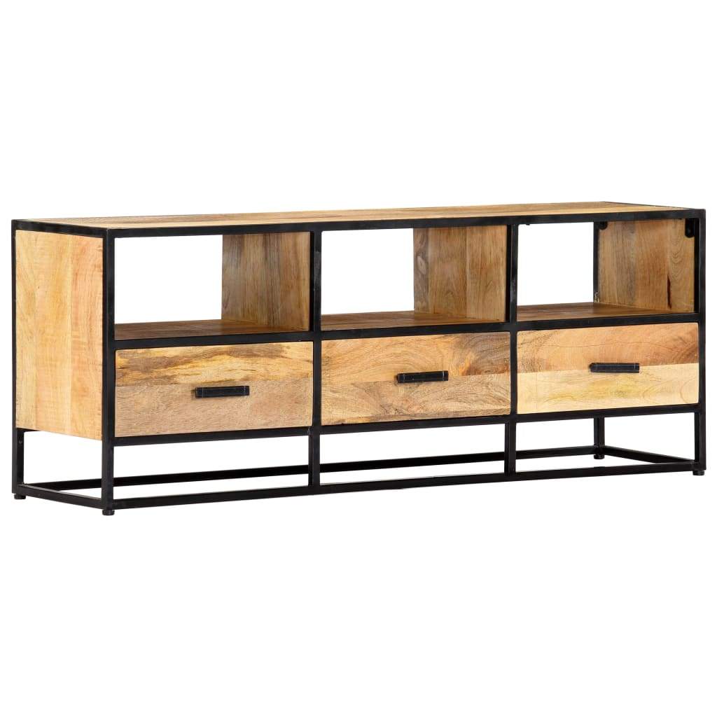 TV Cabinet 120x30x45 cm Solid Mango Wood 10
