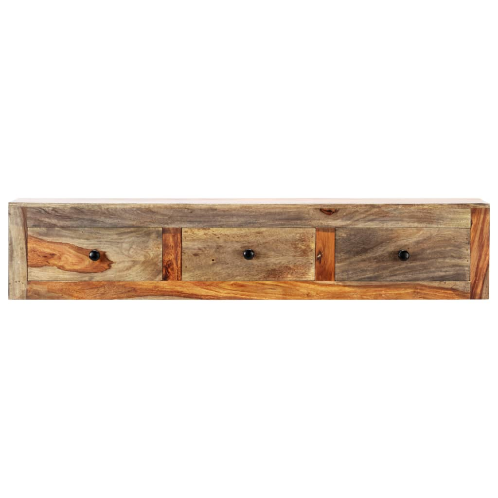 Wall Console Table 100x25x20 cm Solid Sheesham Wood 3