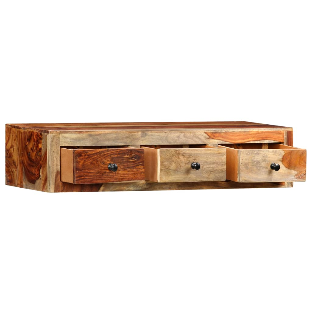 Wall Console Table 100x25x20 cm Solid Sheesham Wood 4