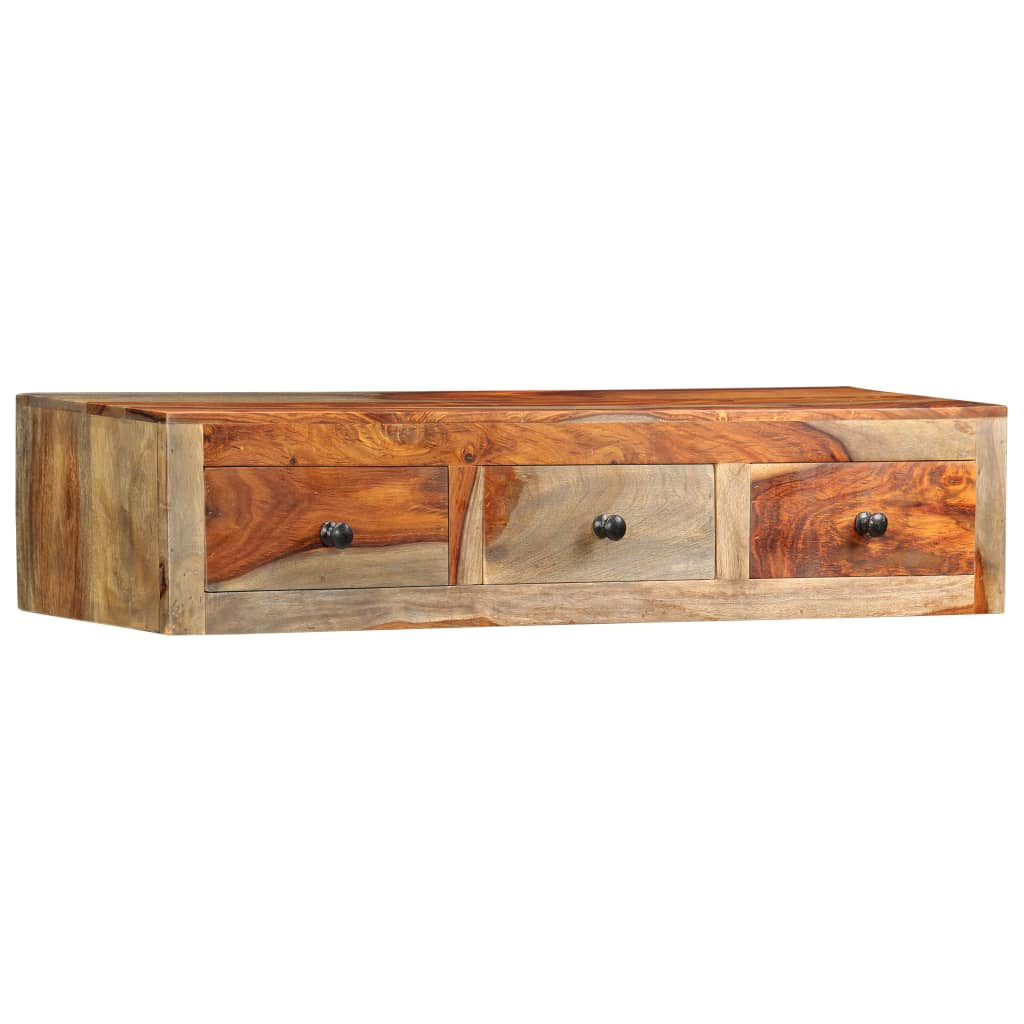 Wall Console Table 100x25x20 cm Solid Sheesham Wood 9