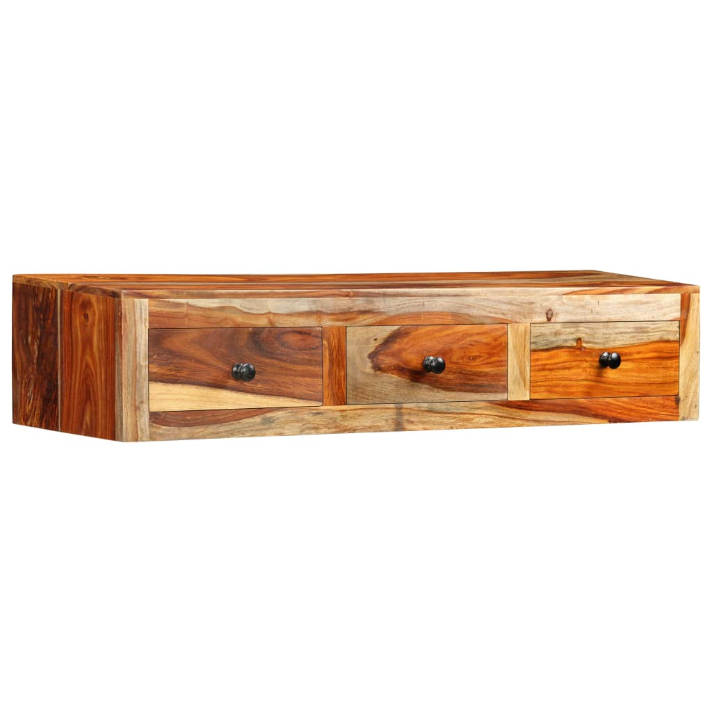 Wall Console Table 100x25x20 cm Solid Sheesham Wood 10