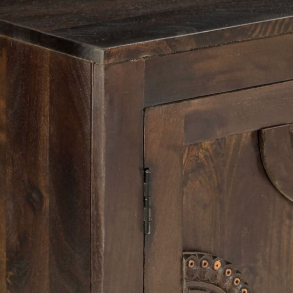 Sideboard with Carved Design 110x35x70 cm Solid Mango Wood 2