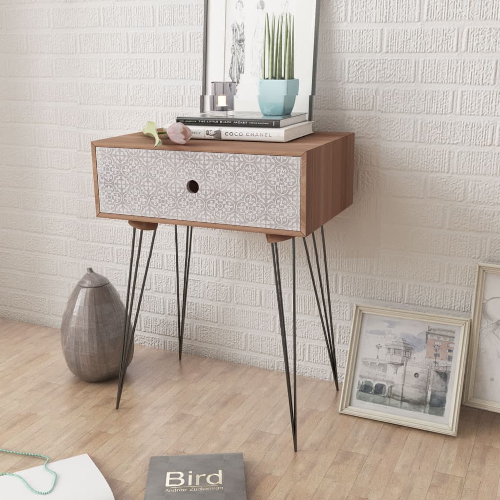 Nightstands with Drawer 2 pcs Brown 2