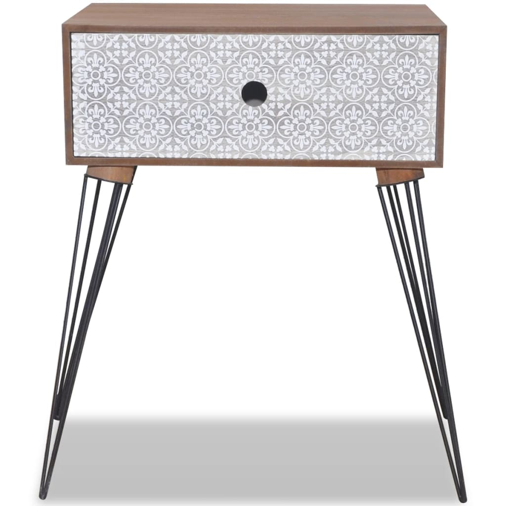 Nightstands with Drawer 2 pcs Brown 5