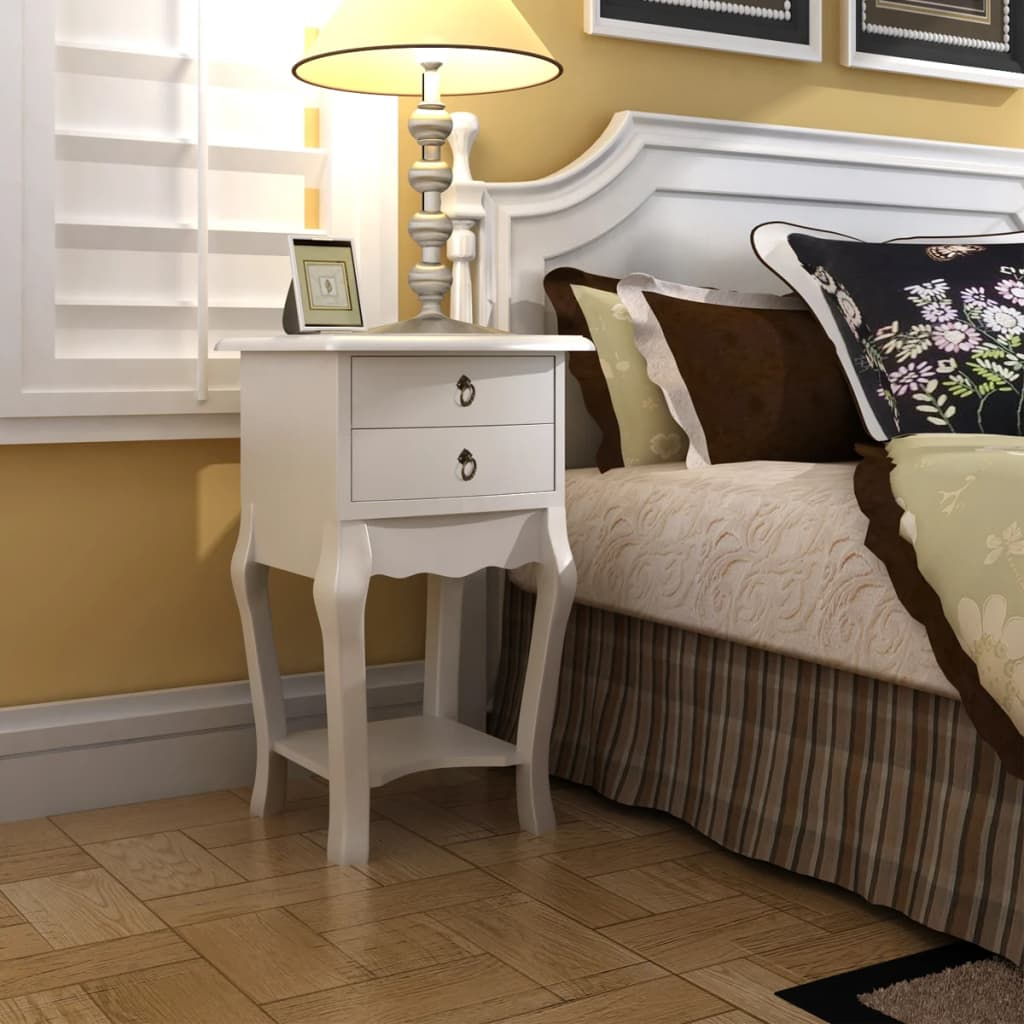 Nightstands with Drawers 2 pcs White 2