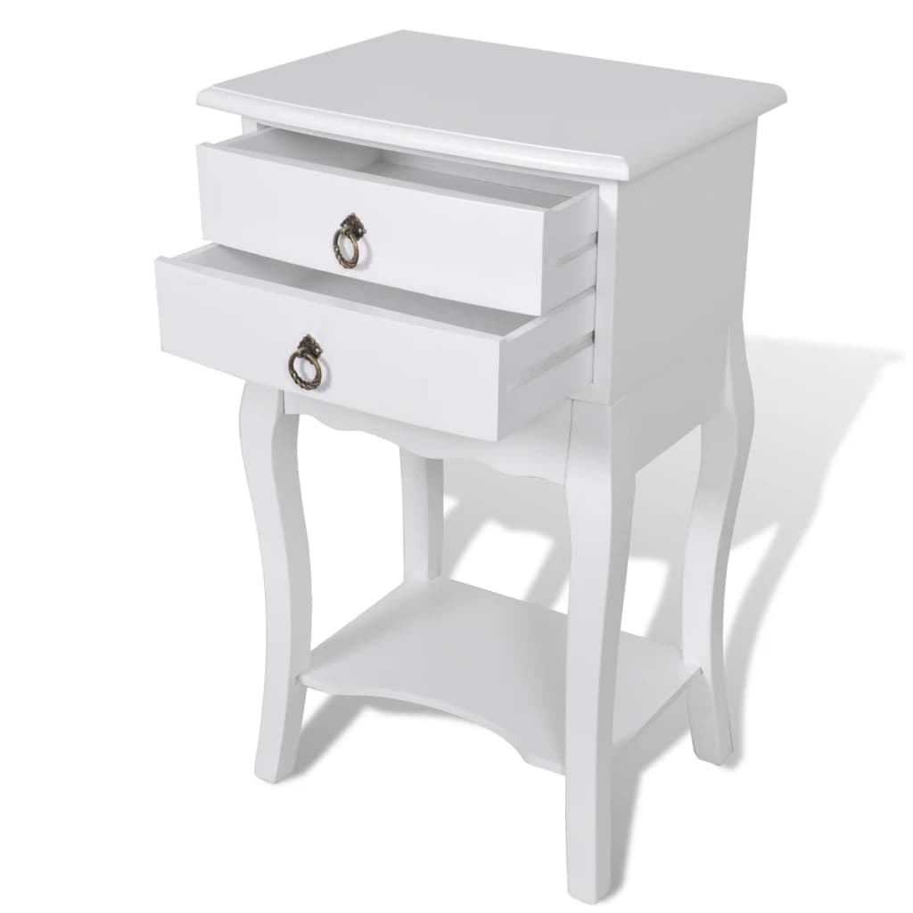Nightstands with Drawers 2 pcs White 3