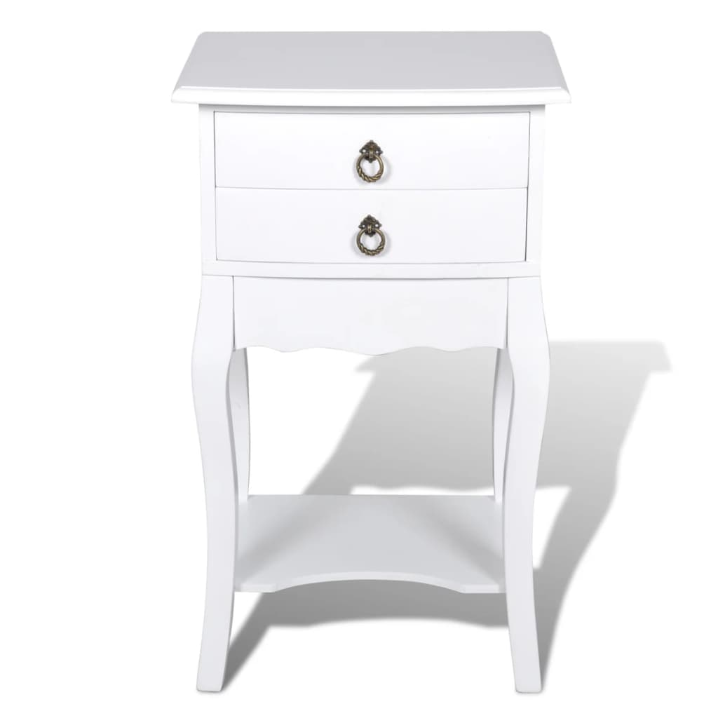 Nightstands with Drawers 2 pcs White 4