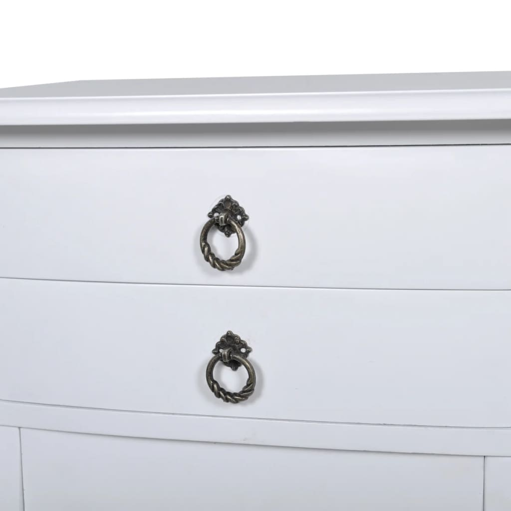 Nightstands with Drawers 2 pcs White 5