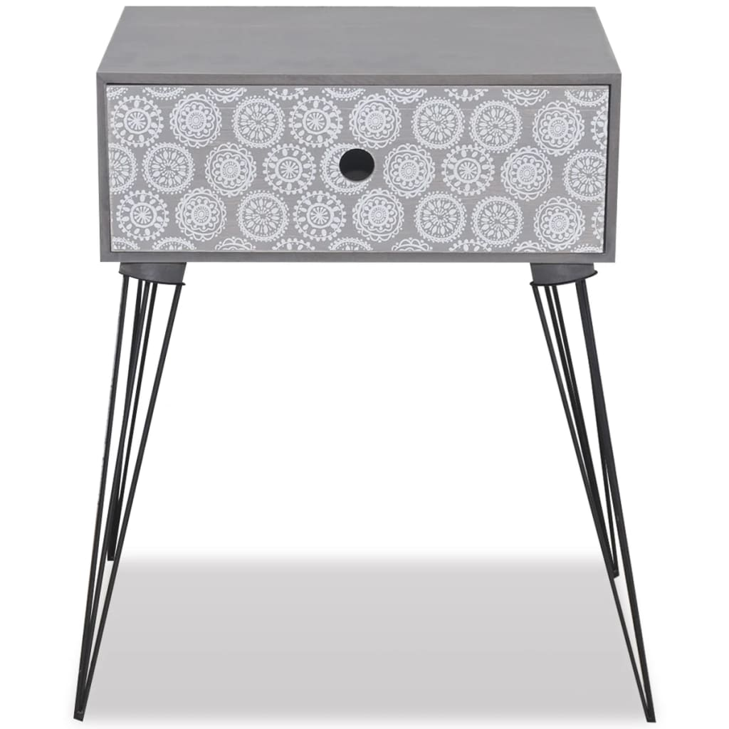 Nightstands with Drawer 2 pcs Grey 5