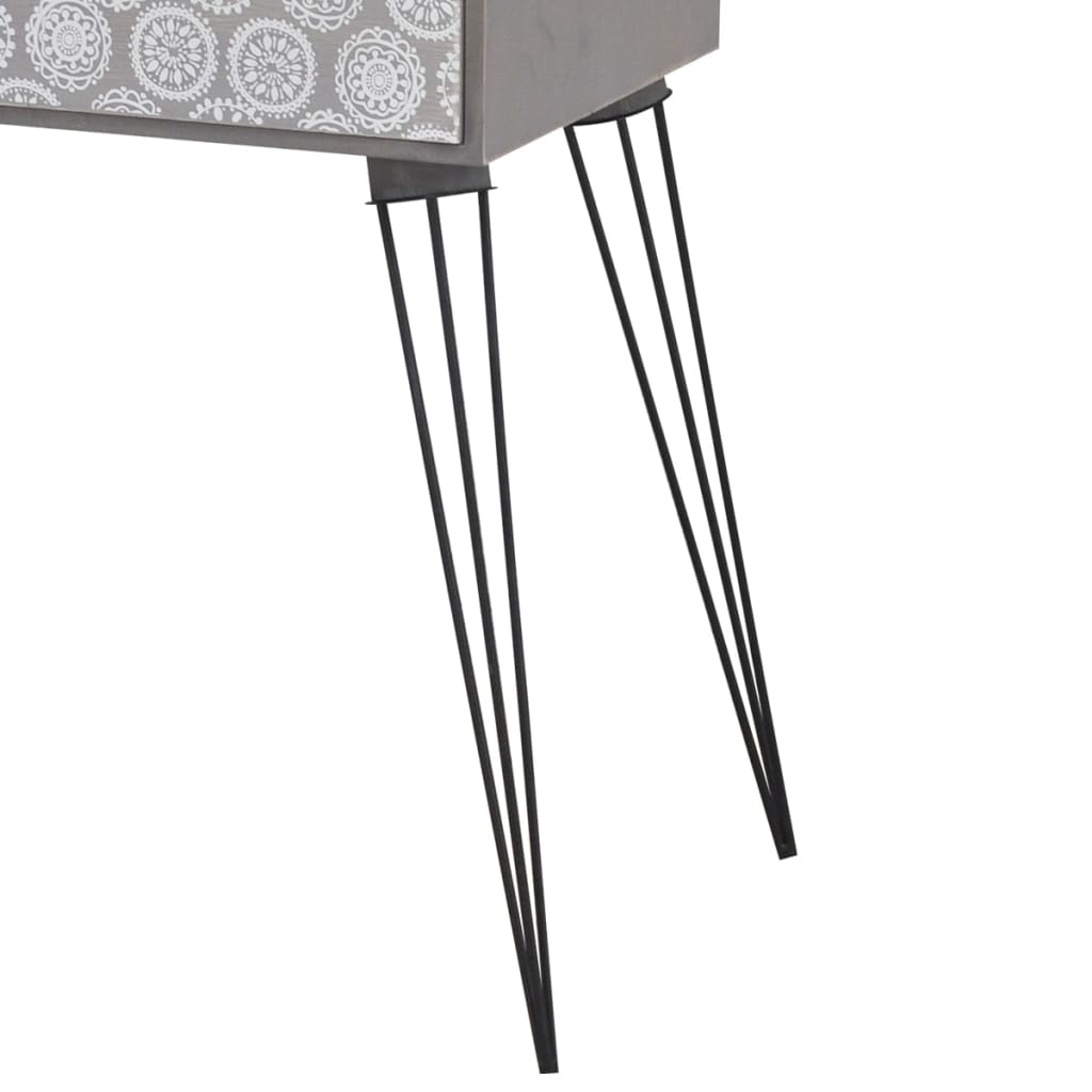 Nightstands with Drawer 2 pcs Grey 6