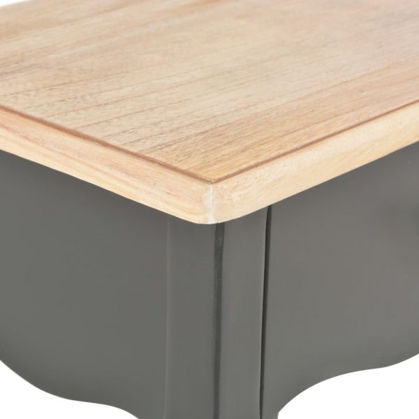 Nightstand Black and Brown 40x30x50 cm Solid Pine Wood 7