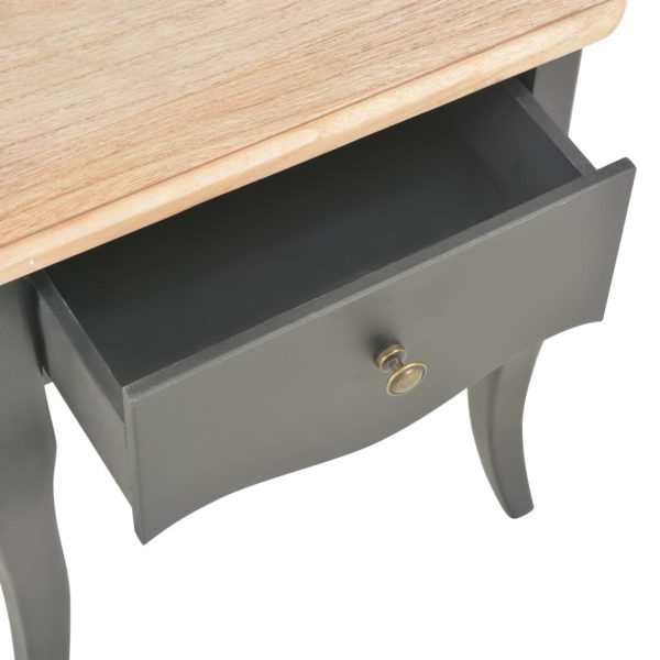 Nightstand Black and Brown 40x30x50 cm Solid Pine Wood 8