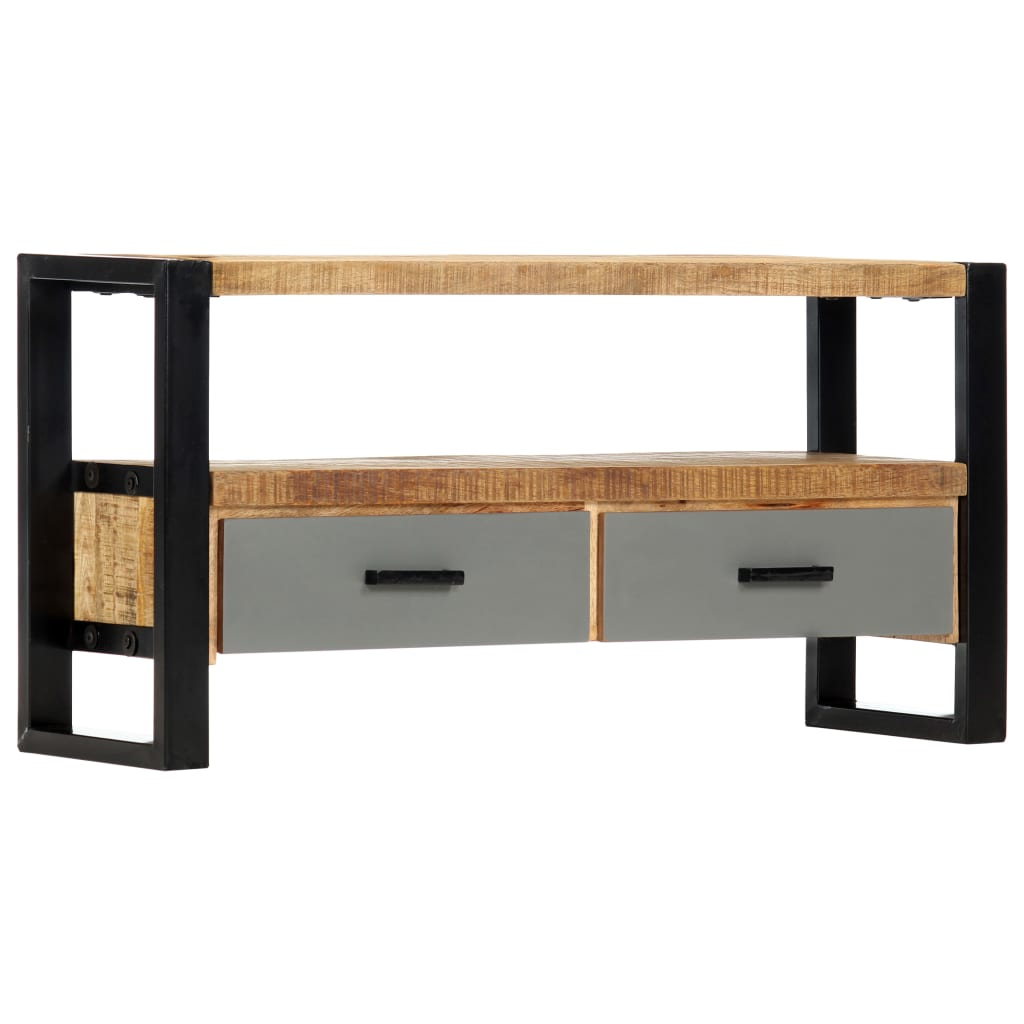 TV Cabinet 100x30x50 cm Solid Mango Wood