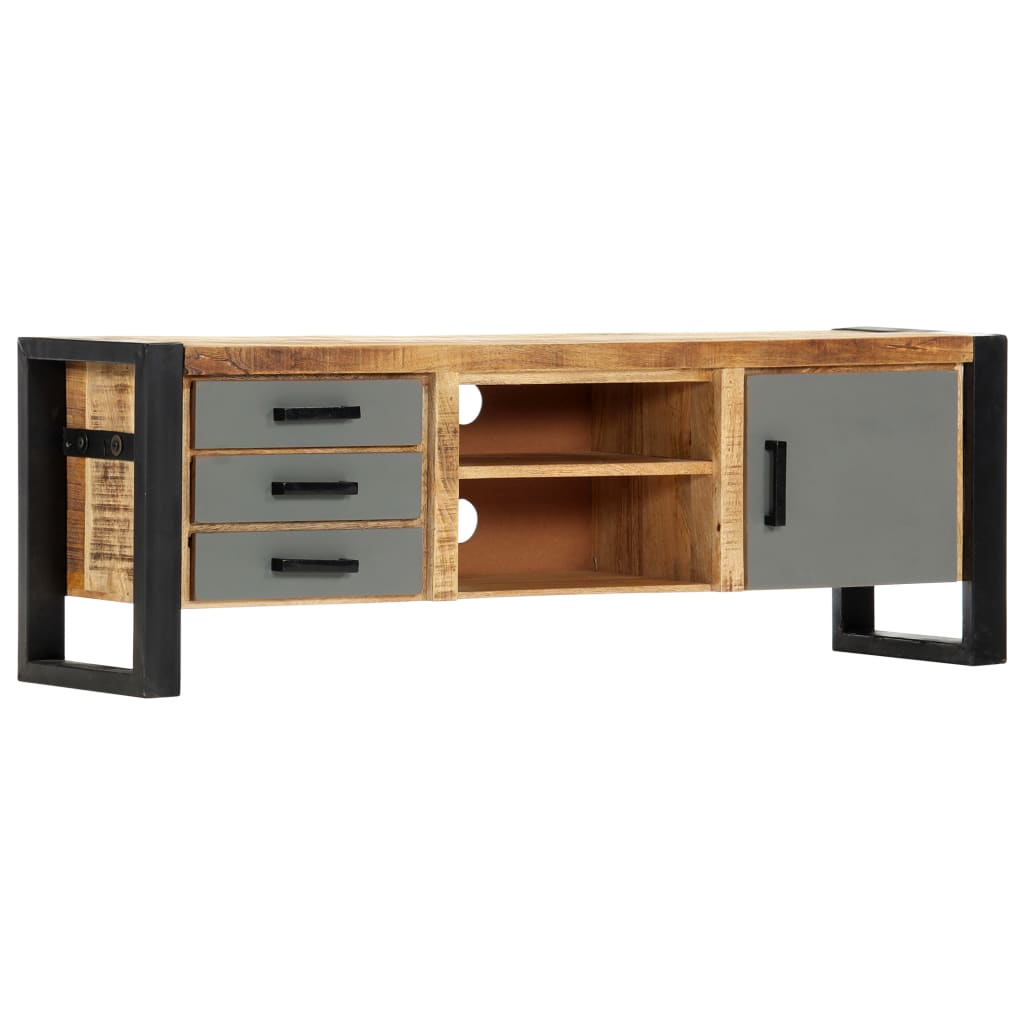 TV Cabinet 120x30x40 cm Solid Mango Wood 1