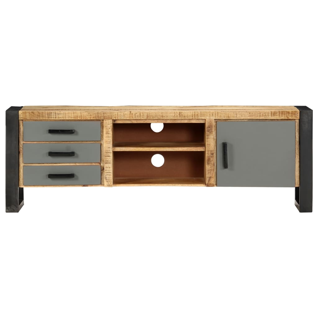 TV Cabinet 120x30x40 cm Solid Mango Wood 3