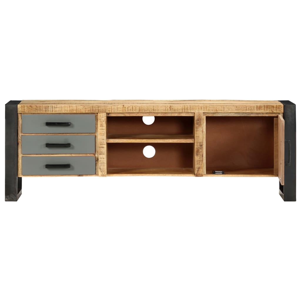 TV Cabinet 120x30x40 cm Solid Mango Wood 4