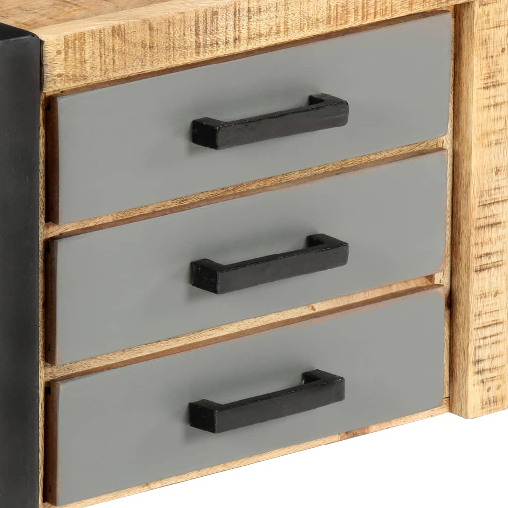 TV Cabinet 120x30x40 cm Solid Mango Wood 6