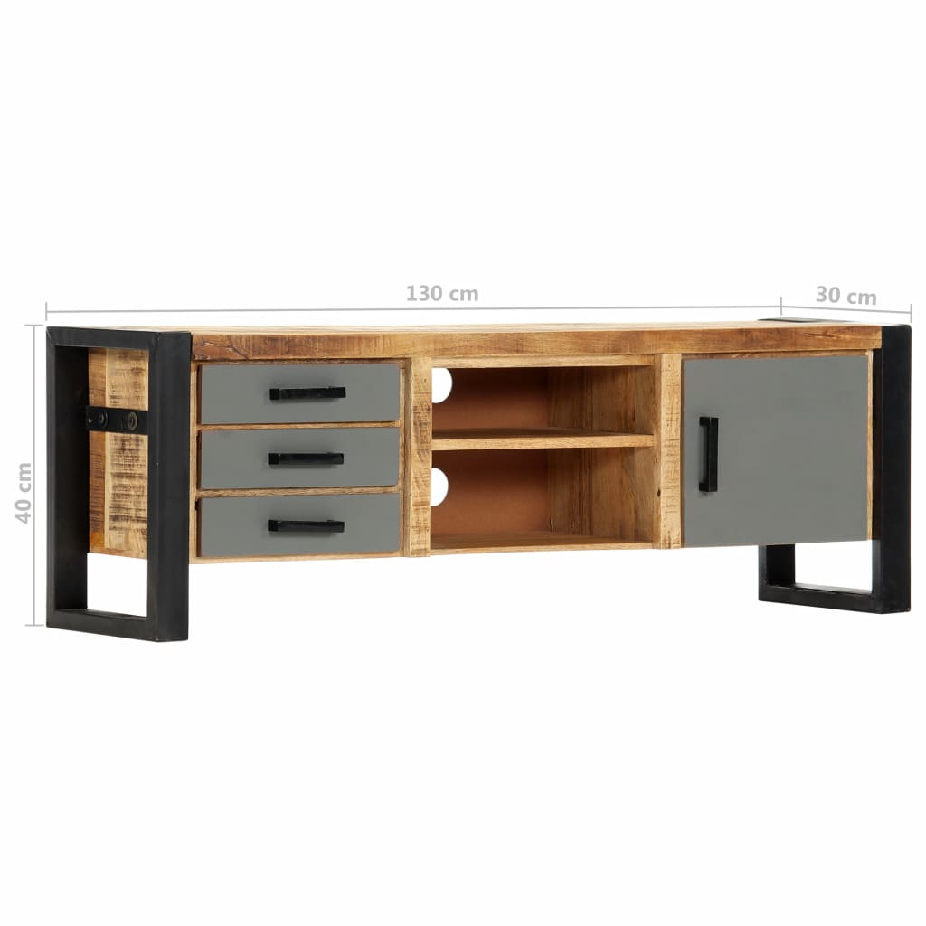 TV Cabinet 120x30x40 cm Solid Mango Wood 8