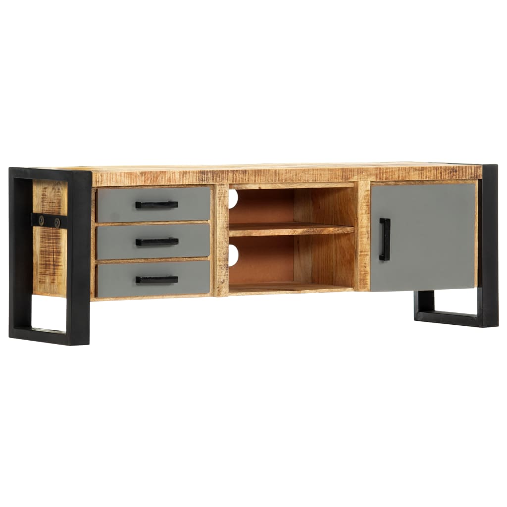 TV Cabinet 120x30x40 cm Solid Mango Wood 9