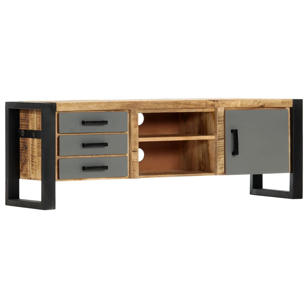TV Cabinet 120x30x40 cm Solid Mango Wood 10