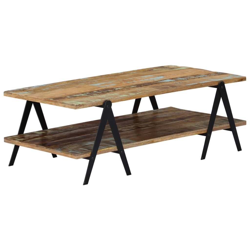 Coffee Table 115x60x40 cm Solid Reclaimed Wood 1