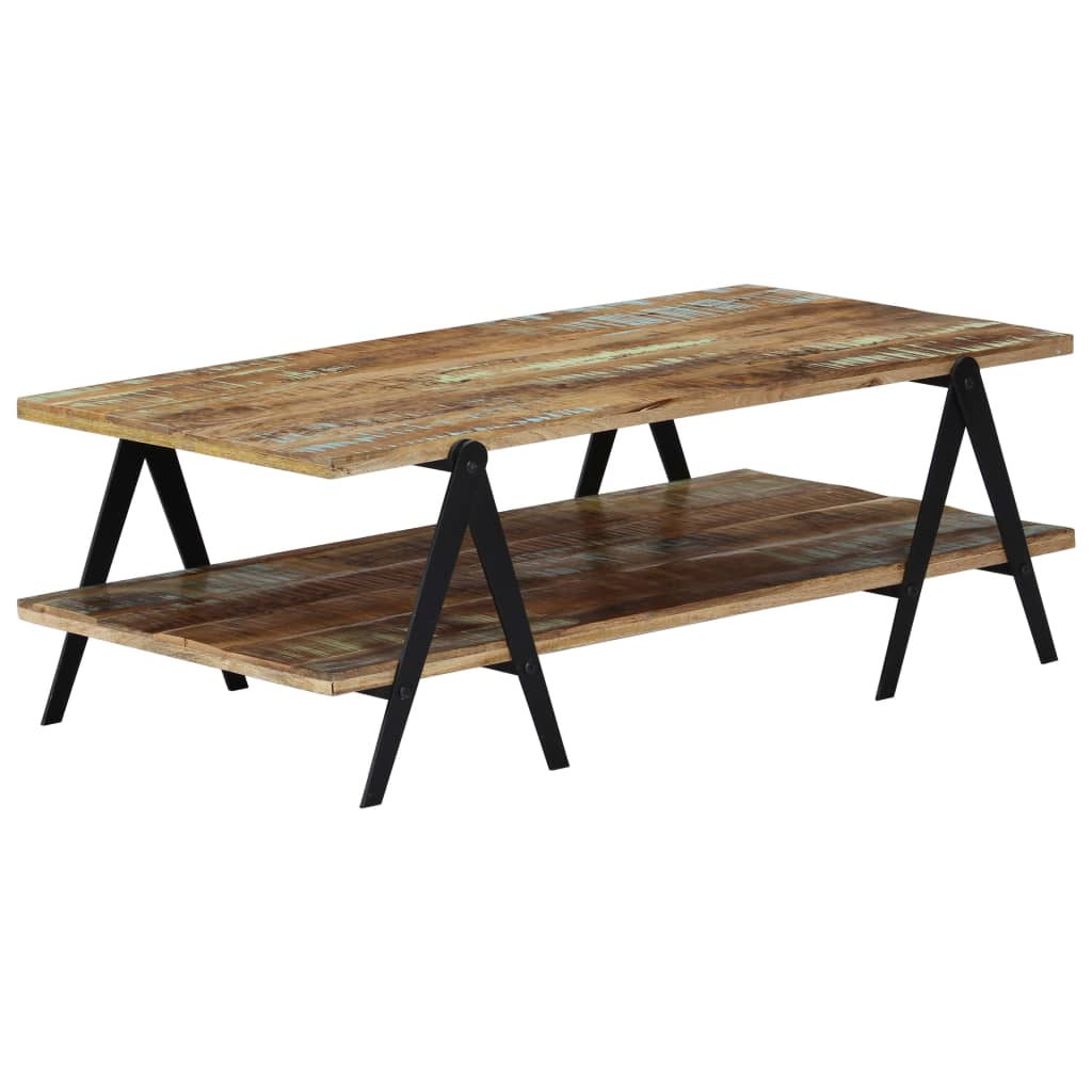 Coffee Table 115x60x40 cm Solid Reclaimed Wood 8