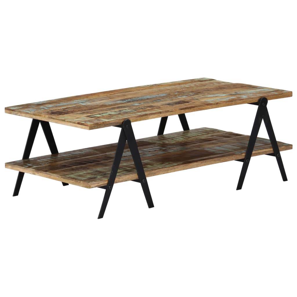 Coffee Table 115x60x40 cm Solid Reclaimed Wood 9