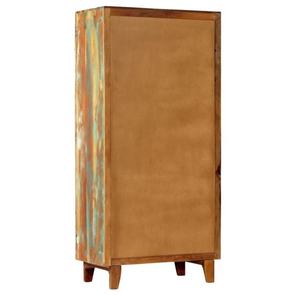 Hand Carved Highboard 85x45x180 cm Solid Reclaimed Wood 5