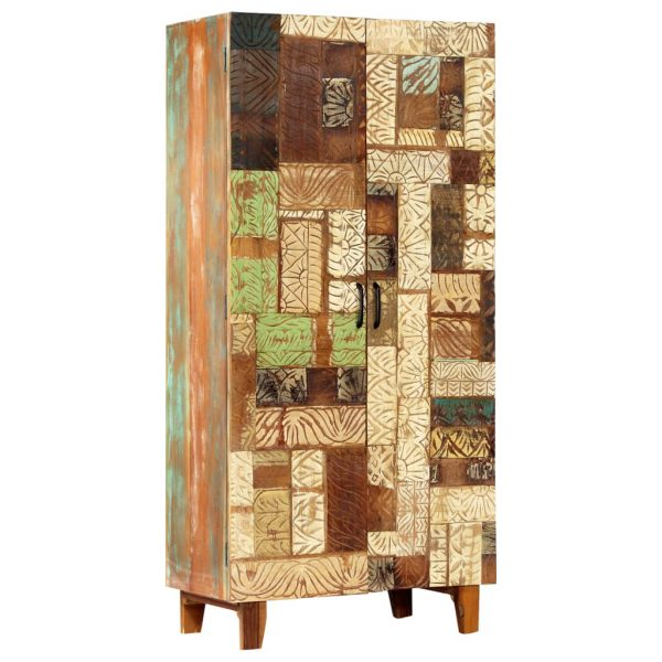 Hand Carved Highboard 85x45x180 cm Solid Reclaimed Wood 8