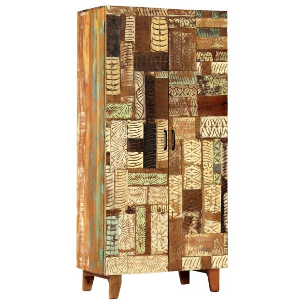 Hand Carved Highboard 85x45x180 cm Solid Reclaimed Wood 9