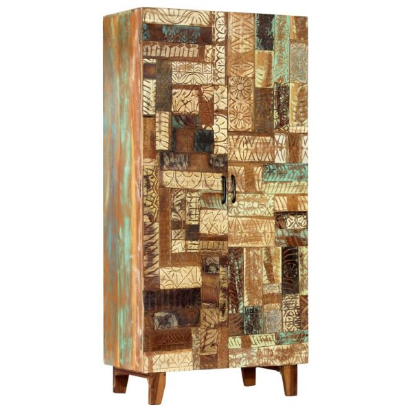 Hand Carved Highboard 85x45x180 cm Solid Reclaimed Wood 10