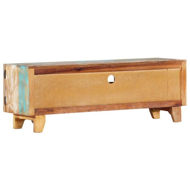 Hand Carved TV Cabinet 120x30x40 cm Solid Reclaimed Wood 4