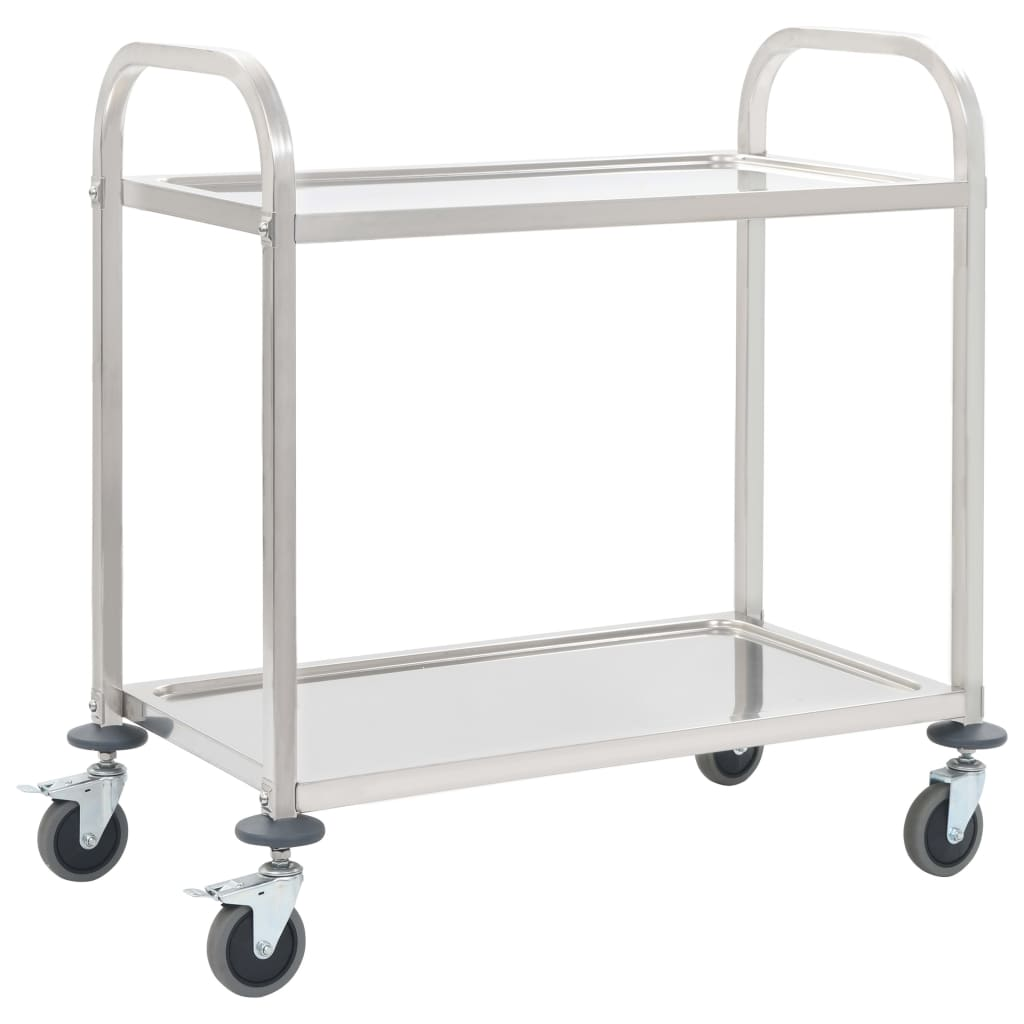 2-Tier Kitchen Trolley 87x45x83