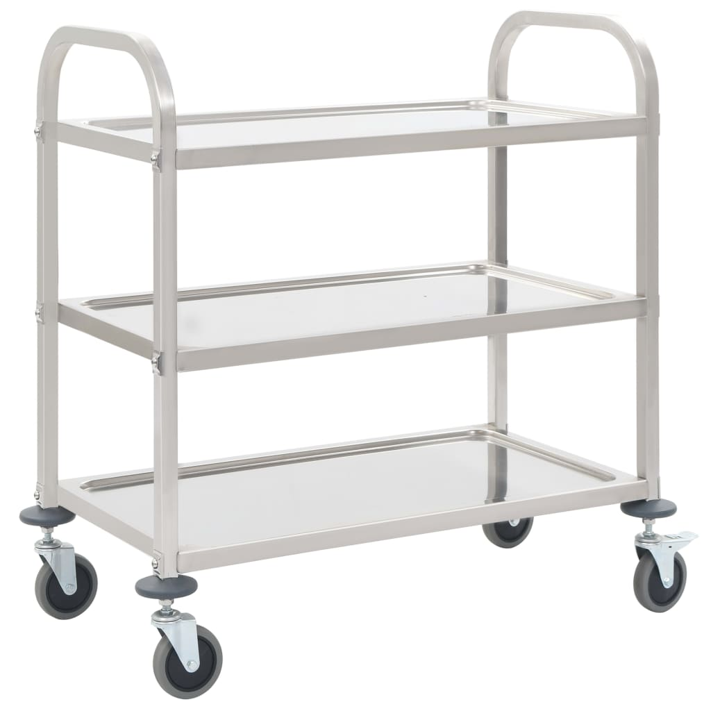 3-Tier Kitchen Trolley 87x45x83