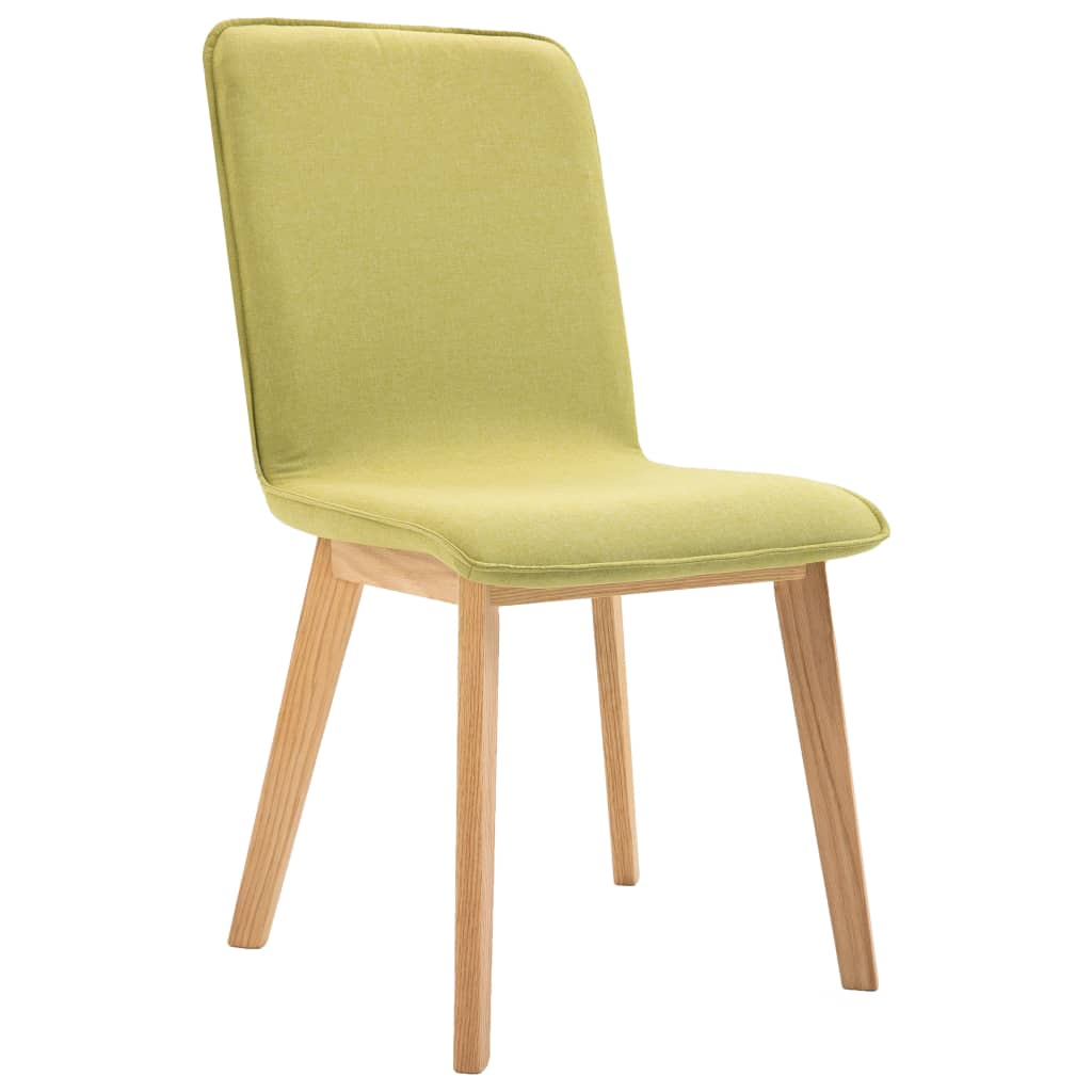 Dining Chairs 2 pcs Green Fabric 4