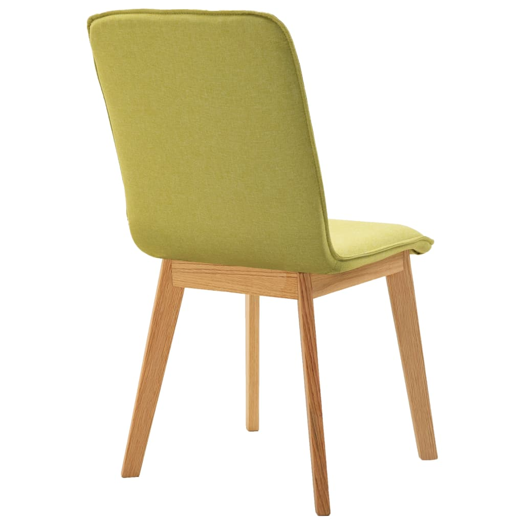 Dining Chairs 2 pcs Green Fabric 7