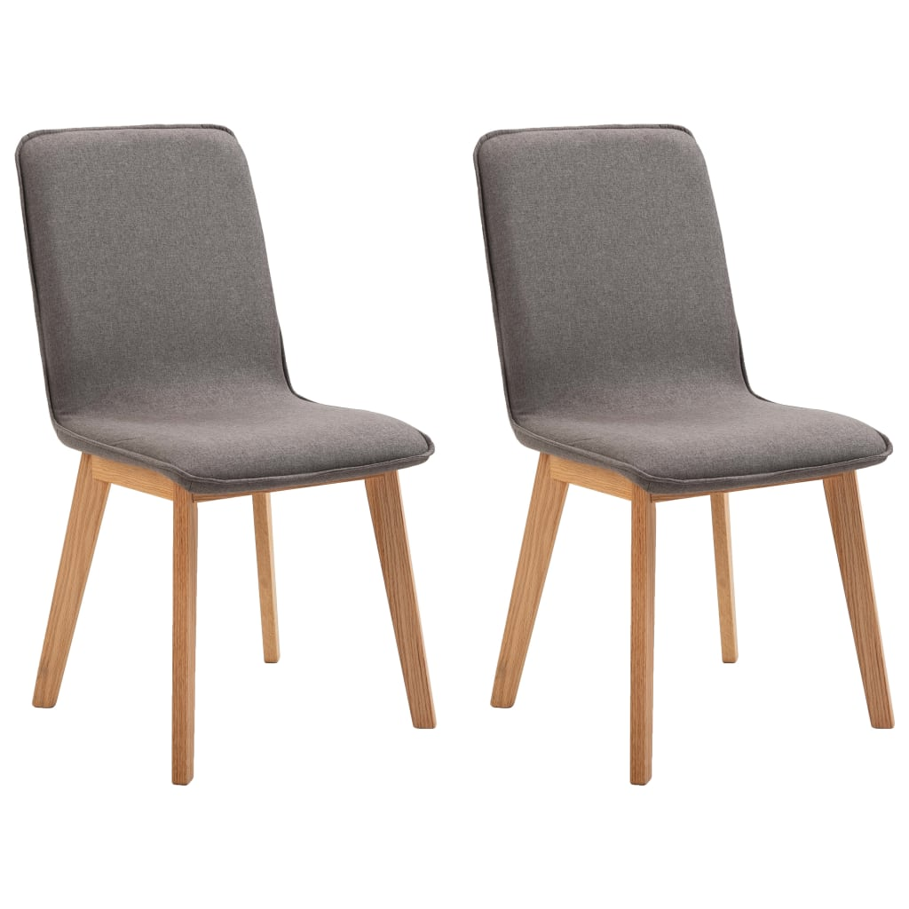 Dining Chairs 2 pcs Taupe Fabric 2