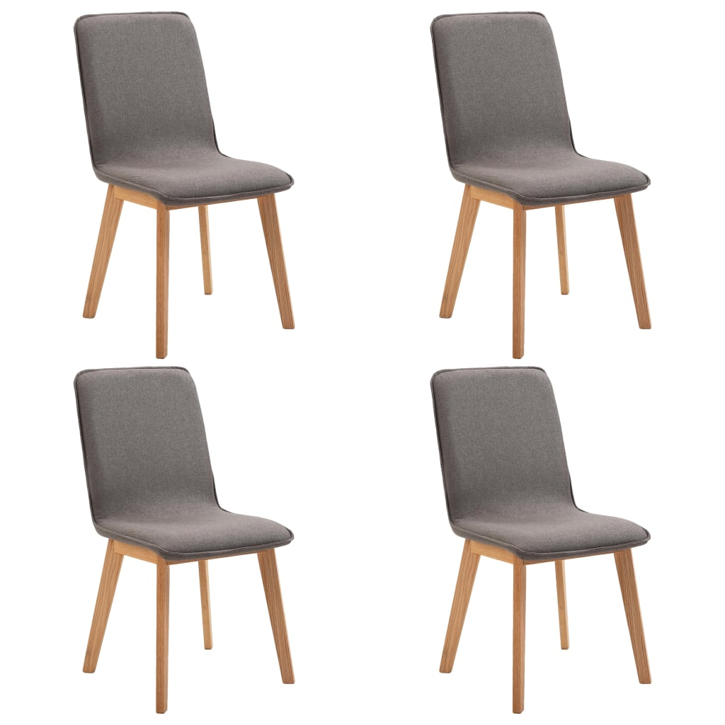 Dining Chairs 4 pcs Taupe Fabric 2