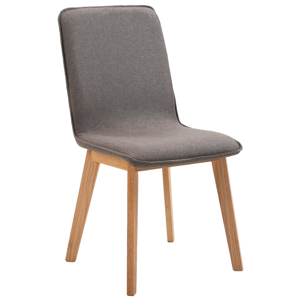 Dining Chairs 4 pcs Taupe Fabric 4