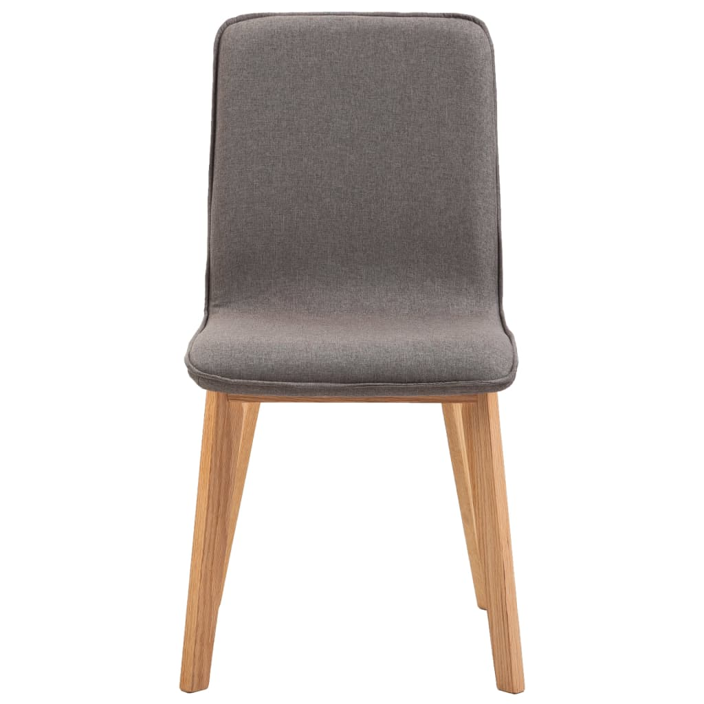 Dining Chairs 4 pcs Taupe Fabric 5