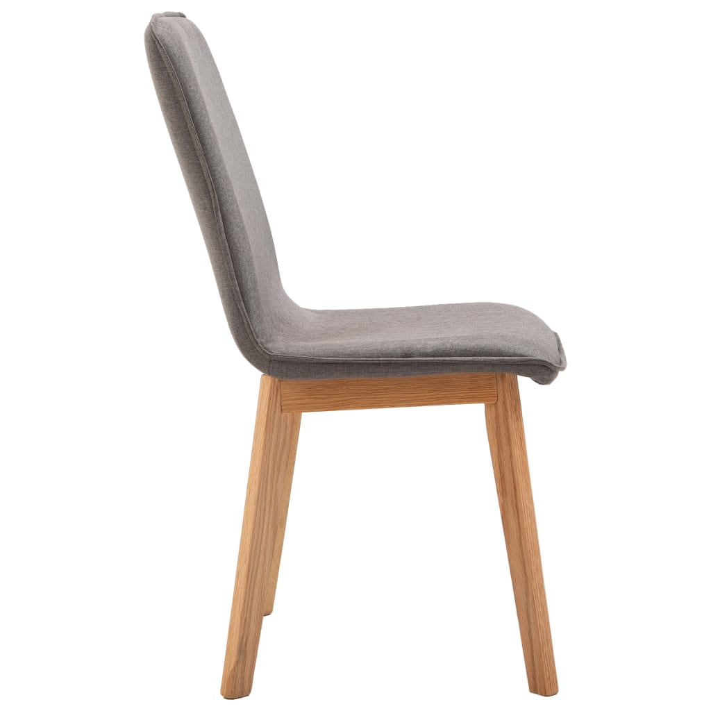Dining Chairs 4 pcs Taupe Fabric 6